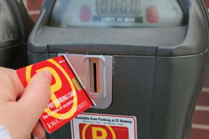 Smart card parking meters