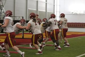 Offensive Line Spring Practice