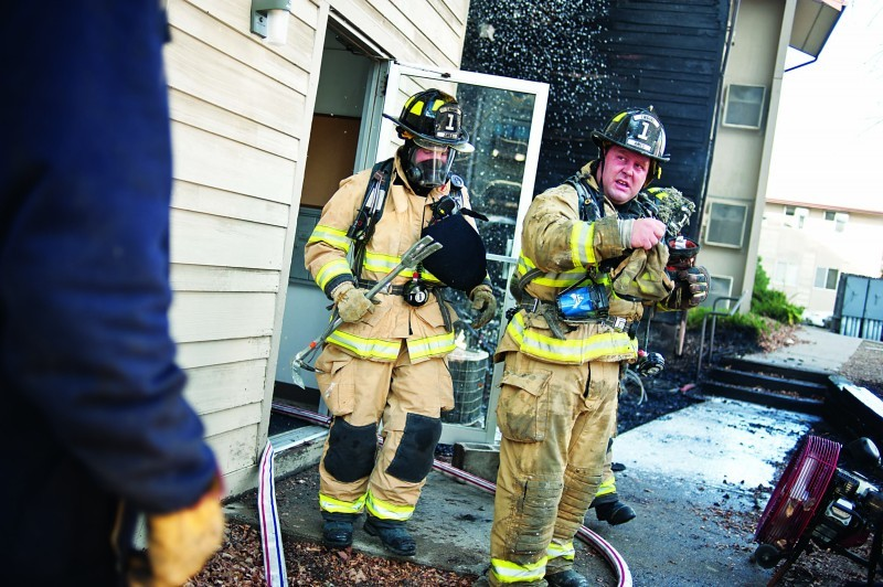 Campus Ave Fire - Firefighters