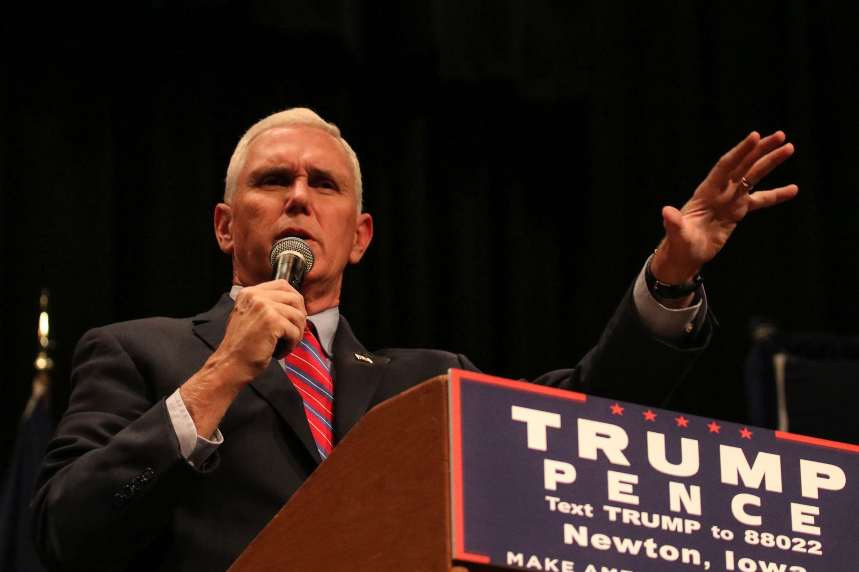 Pence says evidence forthcoming to back Trump