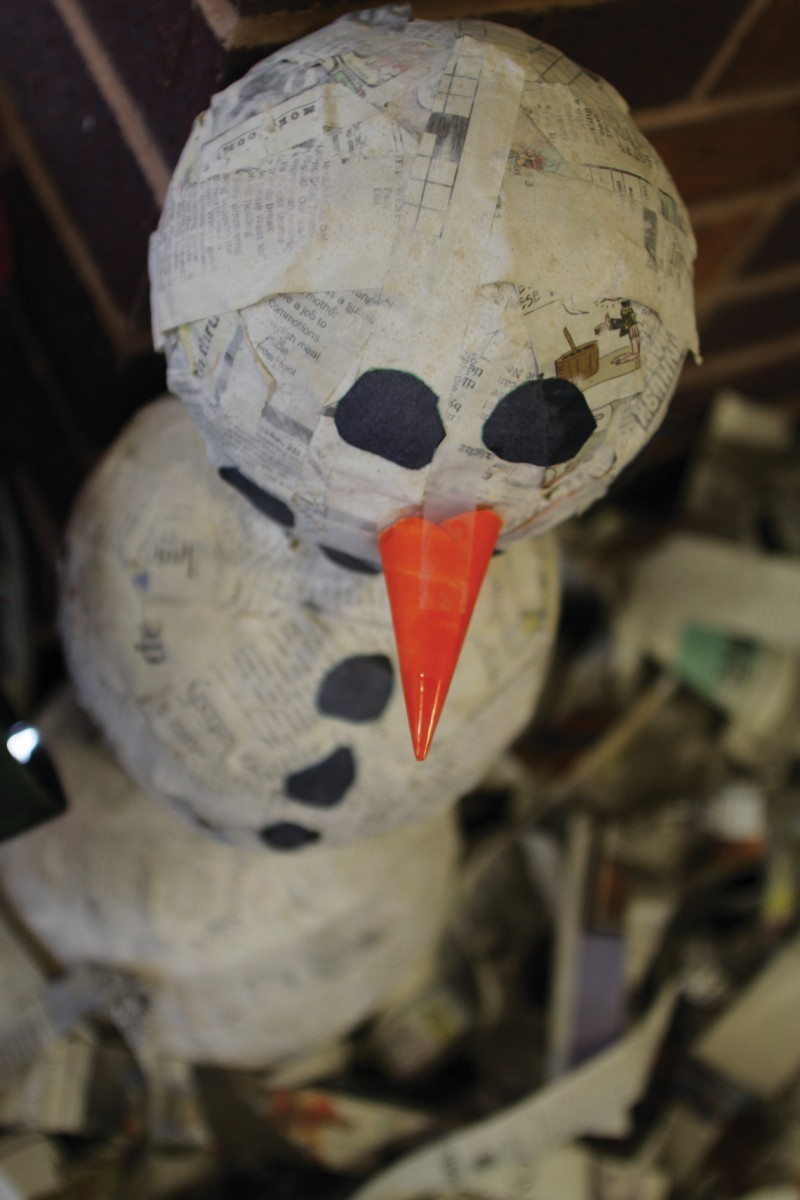 Be creative through sustainable holiday decorations news for Papier mache decorations