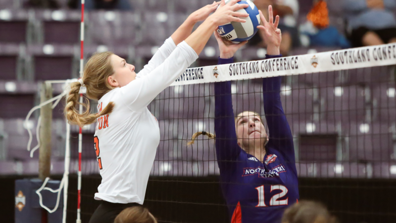 Bearkats beat Northwestern State in four sets, advance to ...