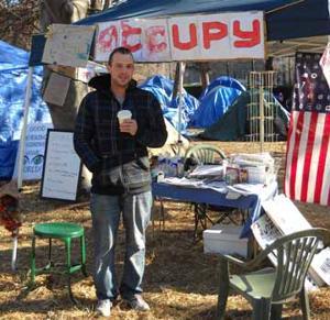 Occupy Ithaca encampment at DeWitt Park