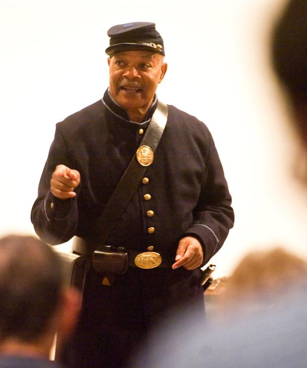 Re-enactor brings escaped slave, Union soldier to life