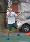Green Wave wins tennis opener 8-1