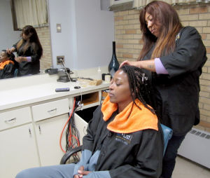 Student operates her own hair salon