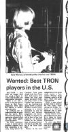 I played Tron too; and I didn't even win a Commodore