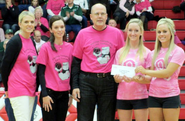 'pink Out' Basketball Game