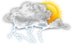Scattered thunderstorms possible