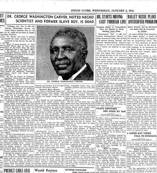 photo essay on george washington carver