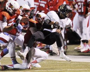 <p>Neosho running back Devin Hames, pictured during the 2014 game against Webb City, has rushed for 1,006 yards and 17 touchdowns during the Wildcats' 4-2 start this season. Neosho entertains Webb City on Friday night.Globe File</p>