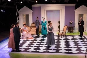 """<p>The cast of """"The Importance of being Earnest,"""" at Playhouse on Park though May 3. (Rich Wagner photo)</p>"""
