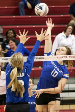 Photos: A state volleyball, North Platte vs. Omaha Marian