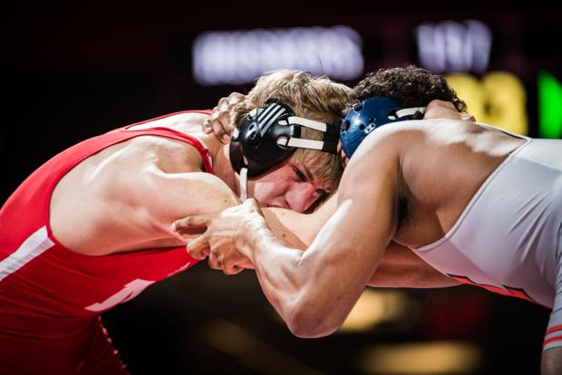 Wrestling: Confident Jensen helps Huskers past Illini