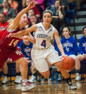 Photos: Bishop Neumann vs. Lincoln Christian, girls hoops