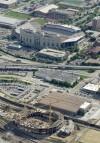 Aerial of stadium in 2012
