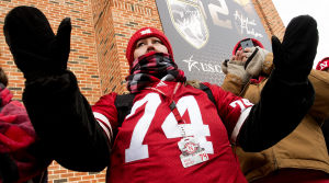 Photos: Fans brave the cold for game in Iowa