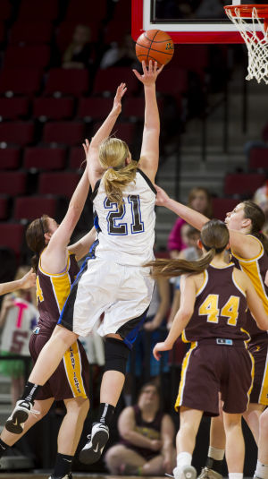 Photos: State girls hoops, Sterling vs. Wynot, 3.8.14