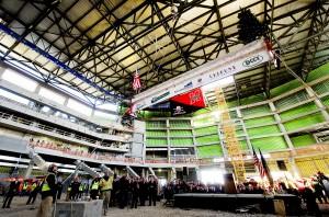 Photos: Capping the Pinnacle Bank Arena