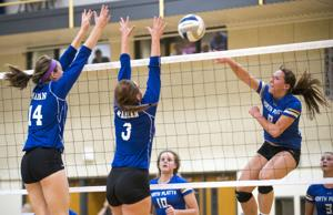 Photos: North Platte vs. Omaha Marian volleyball