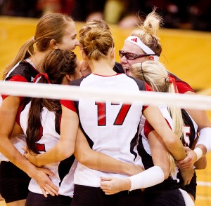 sports huskers volleyball nebraska wins spring match against hawaii article dfdfamp