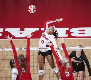 Photos: Red-White Scrimmage, NU volleyball, 8.22.15