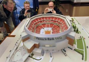 Photos: An arena rising