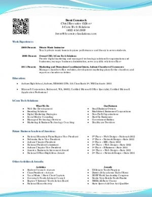 sle resume for high school senior for college