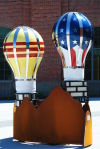 Lightbulb sculptures auctioned