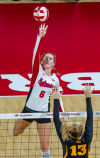 Volleyball: Rolfzens power Huskers to sweep