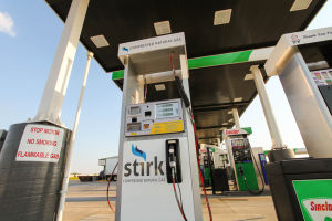 New commercial CNG pump opening