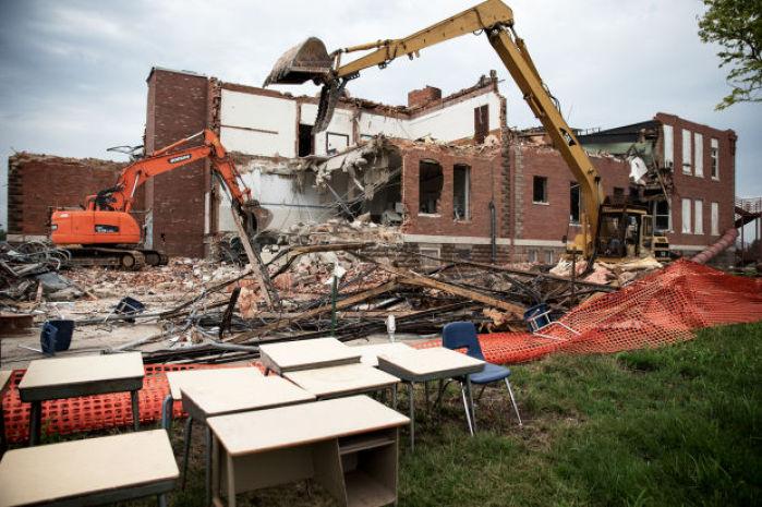 Home Insurance Bc >> Photos: Crews tear down school : Gallery