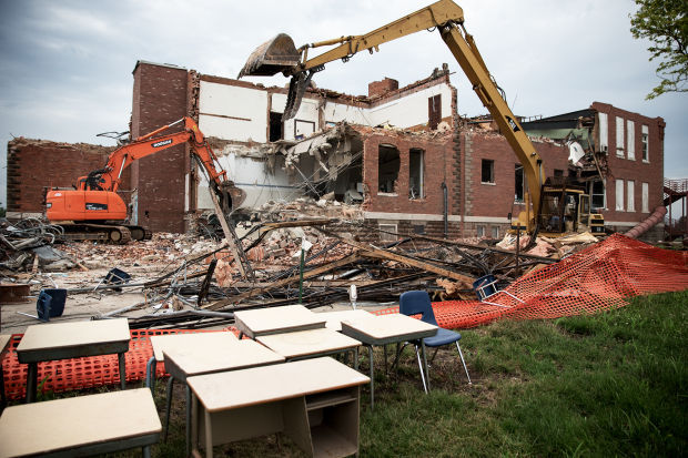 Photos Crews Tear Down School Gallery