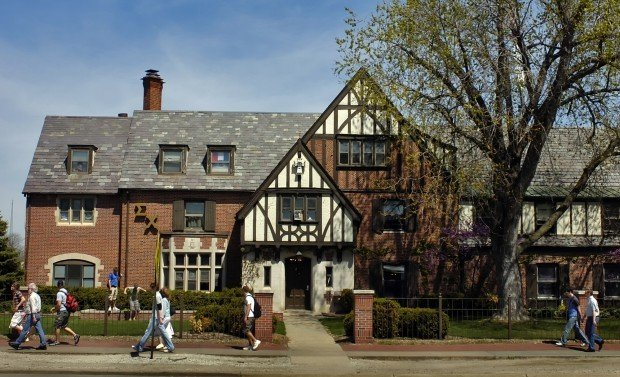 The Sigma Chi fraternity house at the University of Nebraska-Lincoln.