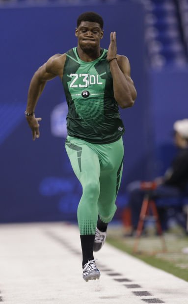 Gregory Makes His Case At Combine Football Journalstar Com