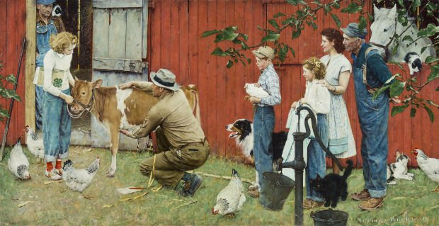 Norman Rockwell Gold S And One Curious Woman Local