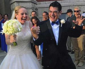 Happy first anniversary, Ashley and Andre