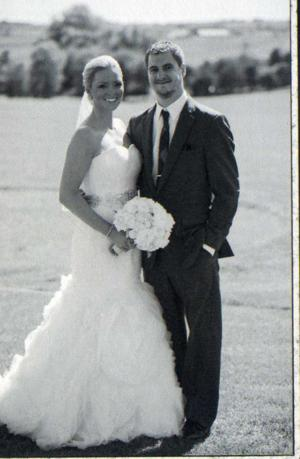 Happy 1st anniversary, Megan and Spencer Lauber