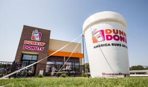 Dunkin' Donuts opens to big crowds