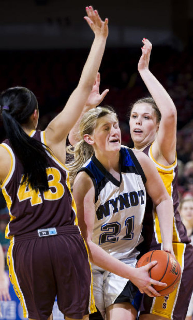 Class D-2 girls state basketball: Wynot runs away to fourth straight title