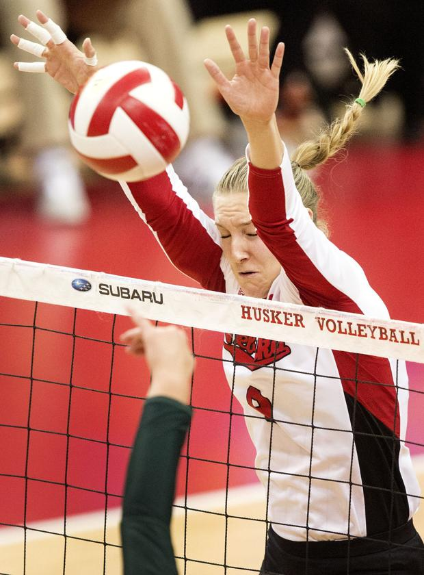 Volleyball: Huskers winning with serve, block and defense