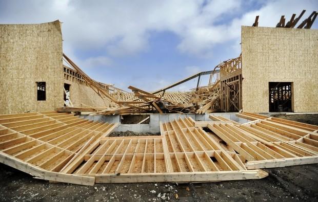 Wind Blowing On Building : Wind blows down waverly building twice nebraska news