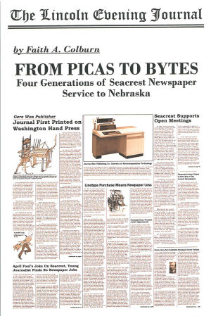Review: Four Generations of Seacrest Newspaper Service to Nebraska By Faith A. Colburn