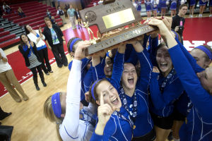 Photos: State volleyball, Omaha Marian vs. Papillion-La Vista