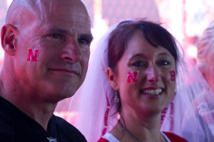 Love and football: Husker fan marries Rutgers fan at halftime