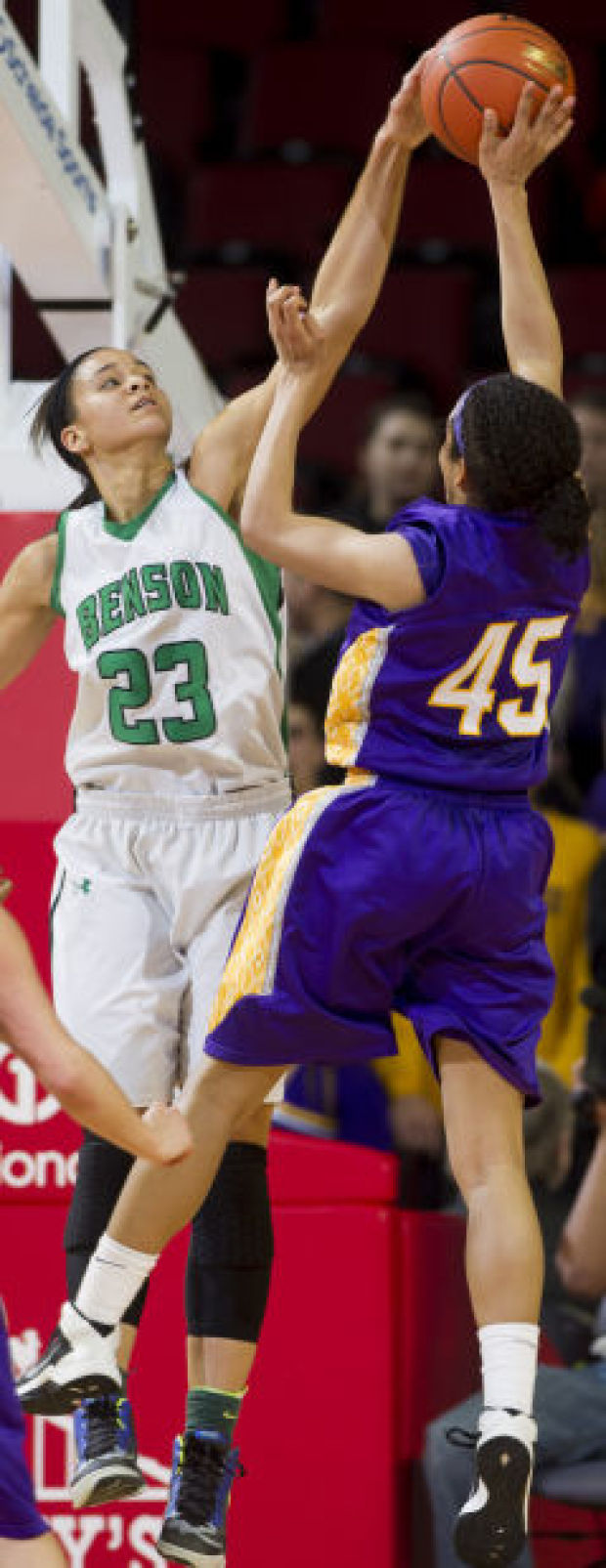 Class A girls state basketball: Benson's defense paves way to first title