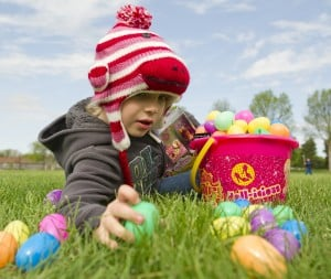 Easter egg hunts around town