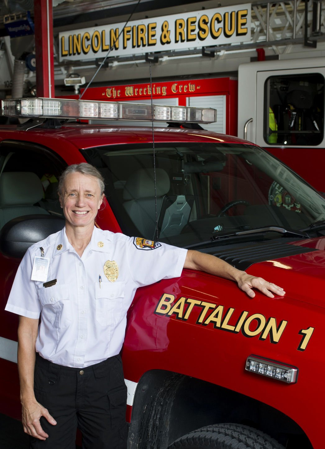 Battalion Chief Pashalek Lincoln S First Woman Officer