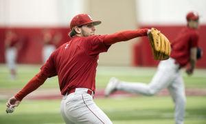 Photos: NU baseball practice, 2.11.15
