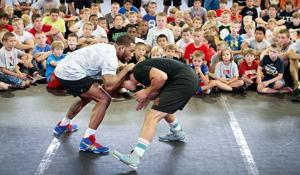Photos: Jordan Burroughs wrestling clinic